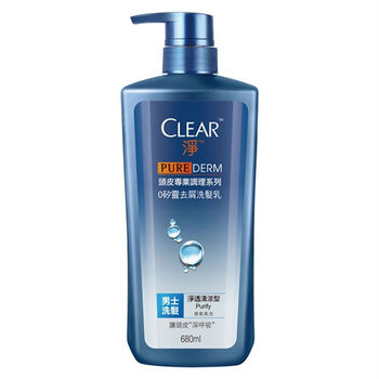 CLEAR淨 頭皮專業調理 男士0矽靈去屑洗髮乳 淨透清涼型680ml