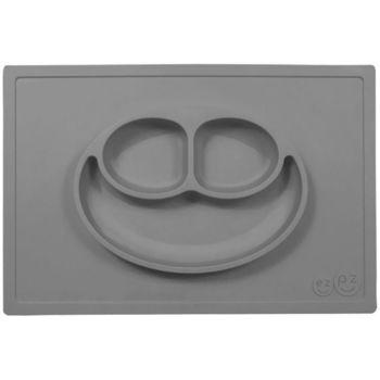 美國EZPZ矽膠防滑餐盤-簡約灰