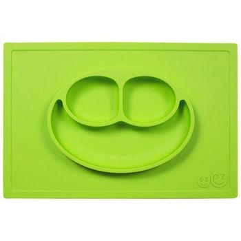 美國EZPZ矽膠防滑餐盤-蘋果綠