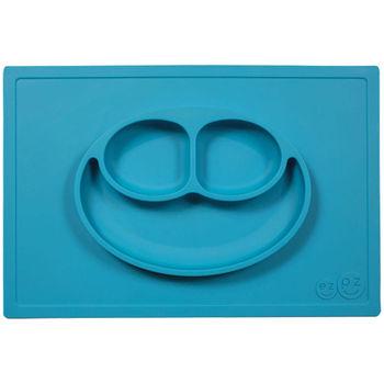 美國EZPZ矽膠防滑餐盤-寶石藍