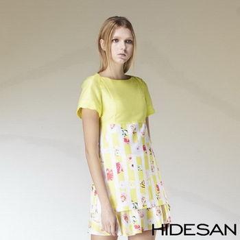 HIDESAN 海蒂山 亮黃玫瑰優雅 上衣