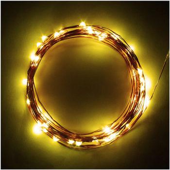 【OutdoorBase】戶外LED仙女燈 戶外裝飾燈串 露營燈-21904.藍光/白光/暖黃光.三色任選