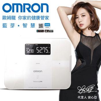 【OMRON歐姆龍】藍芽智慧體重體脂計HBF-254C(白色)※送歐姆龍瑜珈伸展彈力繩