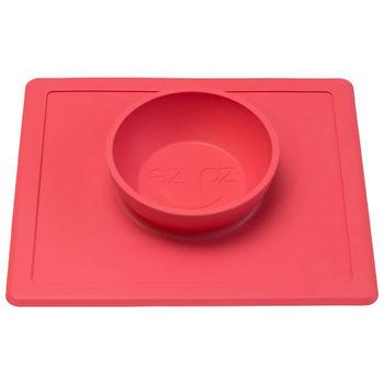 美國EZPZ矽膠防滑餐碗-珊瑚紅