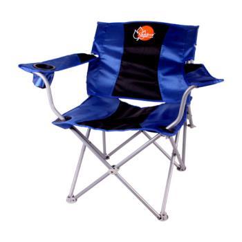 【OutdoorBase】靠腰折疊休閒椅(黑藍)-25339