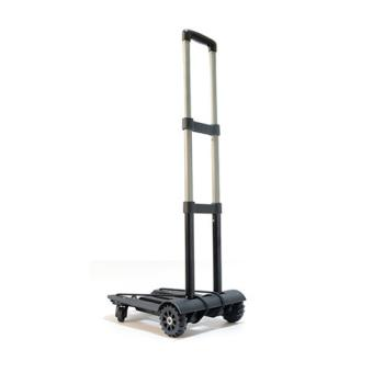 PUSH!旅遊用品 行李車 拉桿車 手拉車 折疊購物車 (四輪驅動後輪360度轉向版)S38