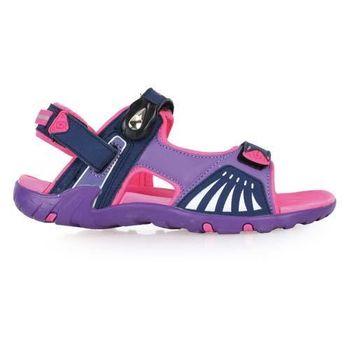 【LOTTO】女磁扣運動涼鞋 -休閒涼鞋  排水 桃紅紫