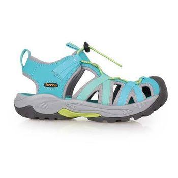 【LOTTO】女護趾涼鞋 -休閒涼鞋 排水 湖水藍綠