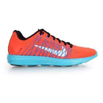 【NIKE】LUNARACER+3 女慢跑鞋 - 飛線 路跑 橘藍