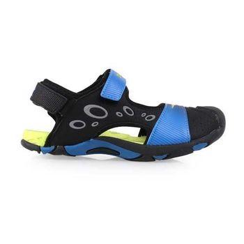 【DIADORA】男女大童護趾運動涼鞋-拖鞋 游泳 休閒 童鞋 黑藍綠