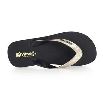 【WAVE3】男雙色夾層人字拖-夾腳拖 拖鞋 海灘 台灣製 黑淺咖啡