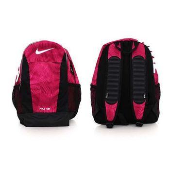 【NIKE】YA MAX AIR 兒童氣墊後背包-肩背包 雙肩包 旅行 粉紫黑