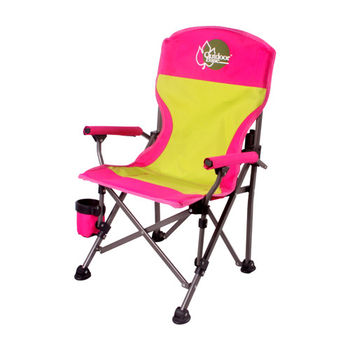 【OutdoorBase】小寶貝小孩折疊椅(桃紅)-25346-孩童兒童專用
