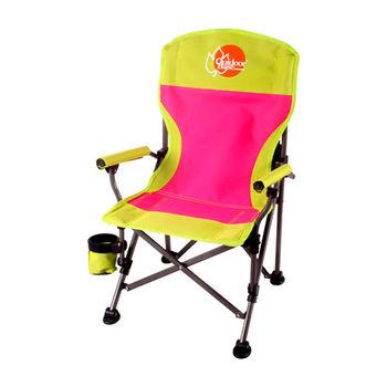 【OutdoorBase】小寶貝小孩折疊椅(草綠)-25346-孩童兒童專用
