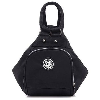 【Acorn*橡果】韓風輕量防水多功能後背包6536(黑色)