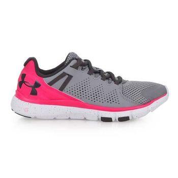 【UNDER ARMOUR】UA LIMITLESS女訓練鞋-健身 灰螢光粉
