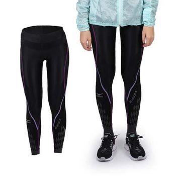 【MIZUNO】BG8000 II女緊身長褲- 慢跑 路跑 美津濃 抗UV 黑紫