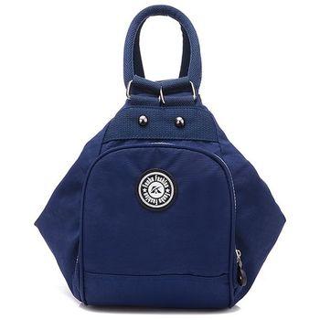 【Acorn*橡果】韓風輕量防水多功能後背包6536(深藍)