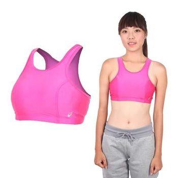 【ASICS】女運動內衣- 背心 慢跑 路跑 亞瑟士 桃紅銀