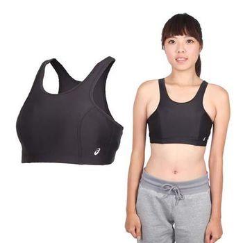 【ASICS】女運動內衣- 背心 慢跑 路跑 亞瑟士 黑銀