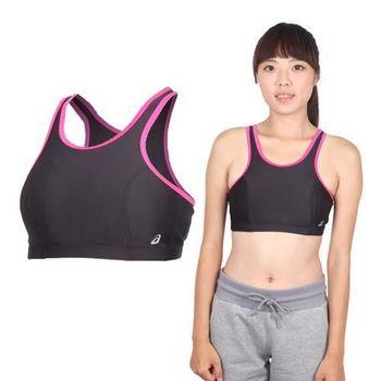 【ASICS】女運動內衣- 背心 慢跑 路跑 亞瑟士 黑桃銀
