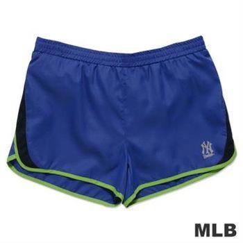 MLB-紐約洋基隊透氣運動短褲-藍(女)