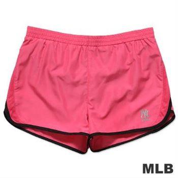 MLB-紐約洋基隊透氣運動短褲-深粉紅(女)