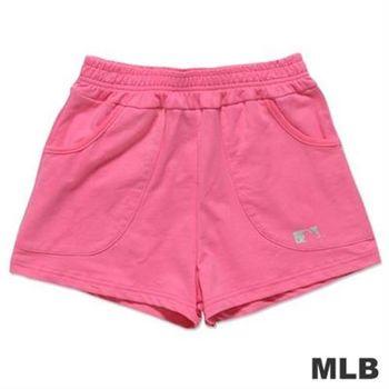 MLB-美國職棒大聯盟印花休閒短褲-深粉紅(女)