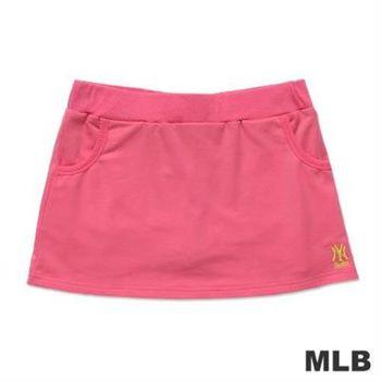 MLB-紐約洋基隊繡印花休閒短裙-深粉紅(女)