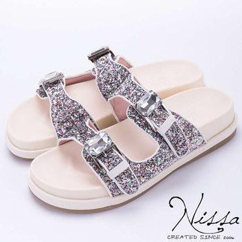 NISSA 勃肯glitter涼鞋 彩色