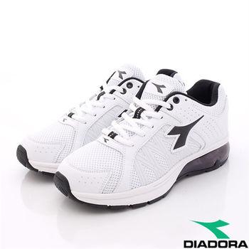 DIADORA義大利國寶鞋-E楦頭乳膠氣墊鞋款-MR2818男款-白黑