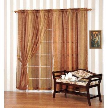 【莫菲思】佳芸-穿掛式波娑半腰窗簾200x165cm