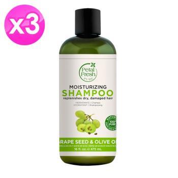 【美國 沛特斯】無矽靈-有機成份葡萄籽抗老化洗髮精(475ml/16oz) 3入組