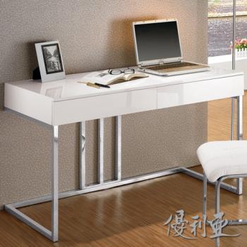 【優利亞-麥爾白色】4尺書桌