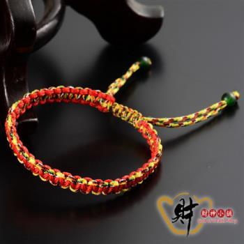 【財神小舖】姻緣紅-平結五色線手鍊《含開光》好人緣姻緣、貴人幫助