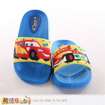 魔法Baby 兒童拖鞋 迪士尼閃電麥坤正版兒童拖鞋 ~sh9792