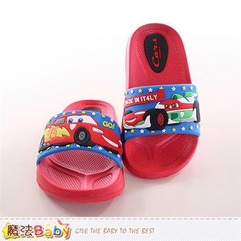 魔法Baby 兒童拖鞋 迪士尼閃電麥坤正版兒童拖鞋 ~sh9791