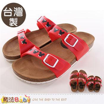 魔法Baby 成人女款涼鞋 台灣製米奇授權正版親子鞋大人款~sh9773