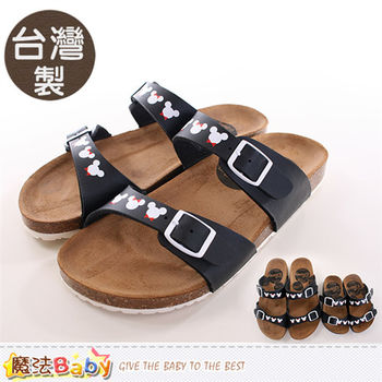 魔法Baby 成人女款涼鞋 台灣製米奇授權正版親子鞋大人款~sh9771