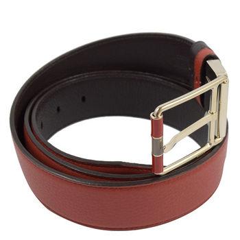 BALLY 6200146 時尚都會皮革雙面雙色皮帶.褐/深咖