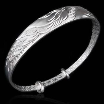 【米蘭精品】925純銀手環手鍊精緻復古大方個性73ap7