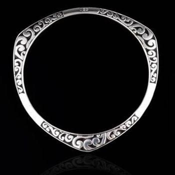 【米蘭精品】925純銀手環手鍊精選簡約個性流行73ap12