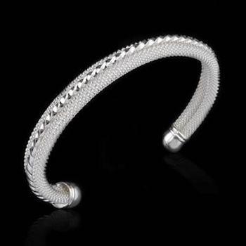 【米蘭精品】925純銀手環手鍊歐美氣質優美流行73ap31