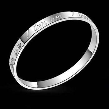 【米蘭精品】925純銀手環手鍊優雅字母風格73ap34