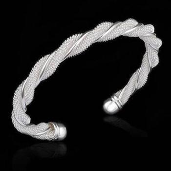 【米蘭精品】925純銀手環手鍊優美個性流行百搭73ap65