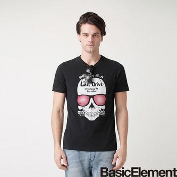 【BasicElement】男款進擊骷髏T-黑色