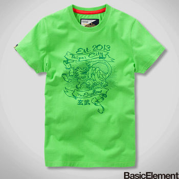 【BasicElement】男款古神獸-玄武 Tee-綠色