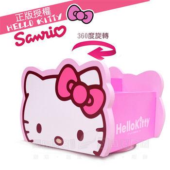 【Hello Kitty】旋轉收納盒 (台灣製正版授權)