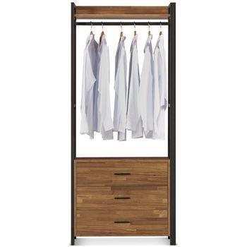 【MY傢俬】現代工業風開放式2.6尺三抽系統衣櫃