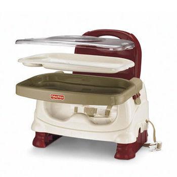 【美國 Fisher-Price】寶寶可攜式餐椅 (紅白色)